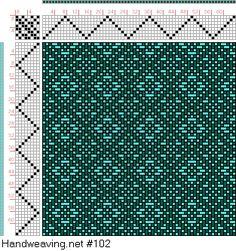 8 Shaft Weaving Drafts- point threading
