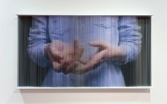 Hong Sung Chul | iGNANT  Printing on string, how cool is that.