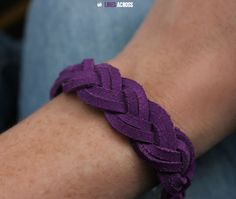 Lines Across: DIY Braided Suede Bracelets
