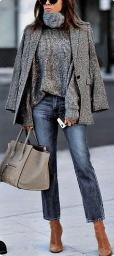 Tendances mode hiver 2019 Discover the fall-winter fashion trends of the season. Fashion Mode, Look Fashion, Fashion Outfits, Fall Fashion, Blazer Fashion, Grey Fashion, Fashion Vintage, 80s Fashion, Fashion Prints
