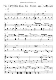 play popular music, This Is What You Came For - Calvin Harris ft Rihanna, free piano sheet music