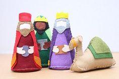 Patrón conjunto Natividad fieltro Navidad por DoSmallThingsWLove