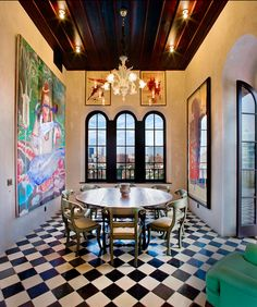 This is the triplex of Julian Schnabel in New York and it features a lot of original art. For some reason, it reminds me a little of the house in Beetlejuice! #home #decor #decoration #interior #art #paintin #chair