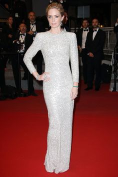 Emily Blunt wearing Stella McCartney on the red carpet at the 2015 Cannes Film Festival