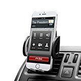 Budget&Good Universal Smartphones Car Air Vent Mount Holder Cradle Compatible with iphone SE 7 7 Plus 6s 6 Plus 6 5s 5 4s 4 Samsung Galaxy S6 S5 S4 LG Nexus Sony Nokia and More (Black)