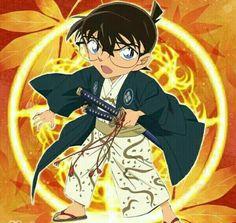 Little samurai Conan Edogawa is too cute!  코난