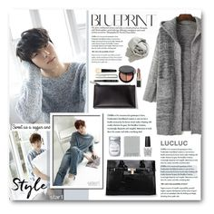 """""""Hong Bin"""" by warna ❤ liked on Polyvore featuring Brunello Cucinelli, Bobbi Brown Cosmetics, Surya and OPI"""