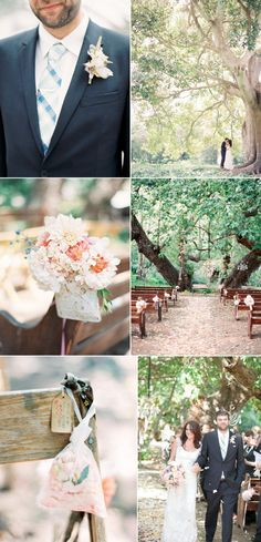outside vintage wedding