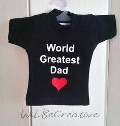 Vaderdag tekst op een mini shirt World's Greatest Dad, Dads, T Shirts For Women, Crop Tops, Mini, Fashion, Moda, Fashion Styles, Fathers