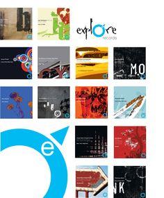 Explore Records Jazz Series Artwork and Design M Millington
