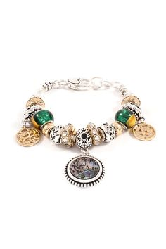 Authentic BELLA FASCINI Cuff Bangle European Bead Charm Bracelet Solid Smooth Sterling Silver #12