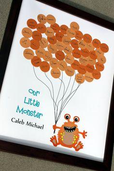 Douche de bébé ou Birthday Party Guest Book par SayAnythingDesign