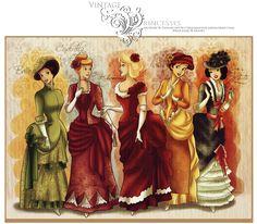 Princesas_Disney__vintage_princesses_by_selinmarsou.png (1600×1400)