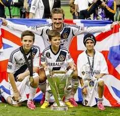 David Beckham Family 2012