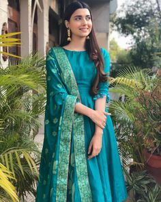 Shop salwar suits online for ladies from BIBA, W & more. Explore a range of anarkali, punjabi suits for party or for work. Silk Kurti Designs, Kurta Designs Women, Kurti Designs Party Wear, Salwar Designs, Blouse Designs, Indian Gowns, Indian Attire, Indian Outfits, Ethnic Outfits