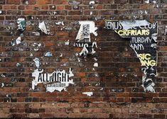 壁, レンガ, ポスター, 古い, ブロック, グランジ, ブラウン, 建物, テクスチャ, 老人, 背景