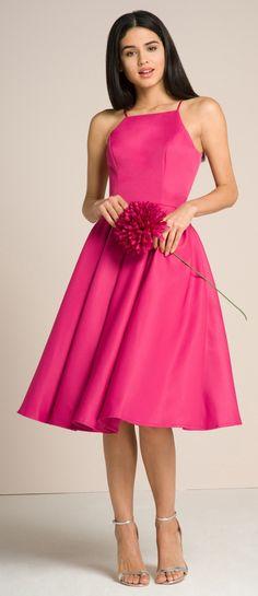 Chi Chi London společenské šaty Analiza, magentové
