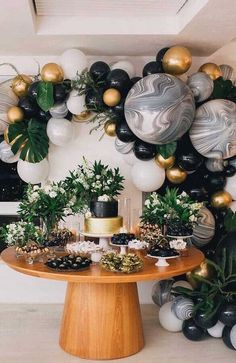 44 + Beautiful decoration ideas for your party - 44 + beautiful decoration ideas for your party, ideas - Deco Baby Shower, Shower Party, Baby Shower Parties, Baby Shower Themes, Baby Shower Decorations, Balloon Garland, Balloon Decorations, Birthday Decorations, Adult Party Decorations