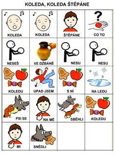 Pro Šíšu: Koleda, koleda Štěpáne :-) School Humor, Pictogram, Jingle Bells, Funny Kids, Preschool, Teaching, Activities, Education, Logos
