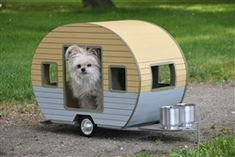 Posh Puppy Boutique is a shop for designer dog clothes and accessories - Pet Camper Trailer Bed  puppy Beds, Blankets & Furniture - Shop By Designer- Kenzo Lacroix Style Beds, pet toys, collars, carriers, treats, stunning bowls, diaper