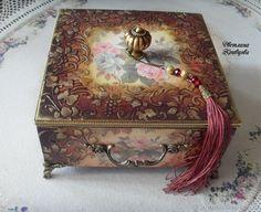 Купить Шкатулка ларец для украшений Fleurs - Декупаж, короб, ларец, шкатулка, handmade, шкатулка деревянная