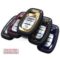 Reflejo de espejo Cubierta de Protección Llaveros para Audi A4 A4L A5 A6 A6L Q5 S5 S7 Proteger Caso de la Cubierta de Diseño de Coches