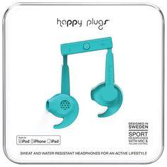 Happy Plugs Sport In-Ear Sound Isolating Headphones - Cerise Sports Headphones, Beats Headphones, Over Ear Headphones, Ear Sound, Sweat Proof, Noise Cancelling Headphones, Cobalt Blue, Plugs, Cool Things To Buy
