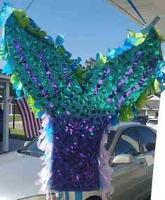 Check out this item in my Etsy shop https://www.etsy.com/listing/453574392/mermaid-pinata-glitter-pinata-custom
