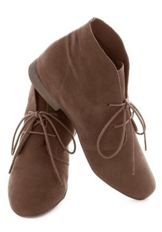 Dashing to Bootie in Deep Taupe, #ModCloth