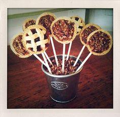 Instead of making cake pops try making pie pops. Yum.