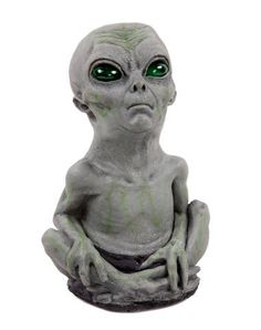 Alien Baby only at Spirit Halloween - Deck out your out-of-this-world haunted house with an otherworldly Alien Baby decoration. Creepy prop features light-up eyes and a motion sensor. Get yours for $42.99.