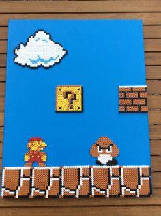 Super Mario Bros- Hama Perler Canvas by Dogtorwho on DeviantArt