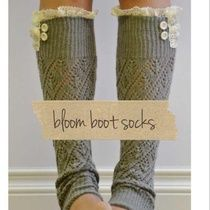 Lacy boot socks