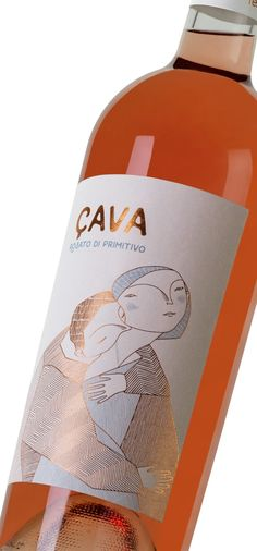 ÇAVA - Wine Primitivo Rosè on Packaging of the World - Creative Package Design Gallery -nice Illustration