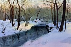 watercolor of winter | Watercolor Paintings (page 1)