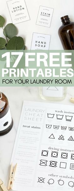 I cannot believe these are FREE!!! Awesome free printables for your laundry room I had to share! laundry room ideas, free label templates, how to get rid of stains, diy cleaners, cleaning hacks