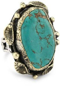 BORA One of a Kind Persian Turquoise Ring, Size 7  http://electmejewellery.com/jewelry/rings/statement/bora-one-of-a-kind-persian-turquoise-ring-size-7-com/