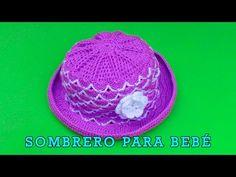 Sombrero para bebé de 5 meses tejido a crochet - paso a paso - YouTube