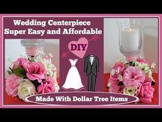 Wedding Centerpiece Dollar Tree DIY - YouTube