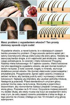 Masz problem z wypadaniem włosów? Ten prosty domowy sposób czyni cuda... Diy Spa, Barber, Life Hacks, Beauty Hacks, Hair Care, Hair Beauty, Make Up, Cosmetics, Hair Styles
