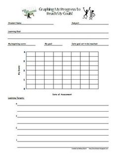 Graphing My Progress--for students to fill out and use (goal setting)