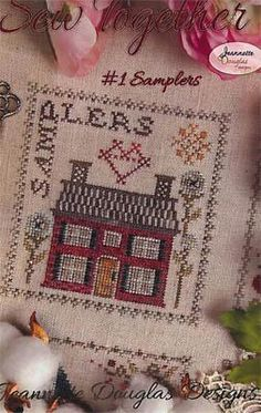 Jeannette Douglas Sew Together Samplers - Cross Stitch Pattern. Model stitched over 2 threads on 40 Ct. Barn Owl Beige by Silkweavers or 40 Ct. Cross Stitch Samplers, Cross Stitch Kits, Cross Stitch Patterns, Quilt Patterns, Needlepoint Kits, Needlepoint Canvases, Needle Cushion, Little Stitch, Bead Kits