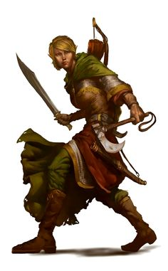 Female Elf Ranger - Pathfinder PFRPG DND D&D d20 fantasy