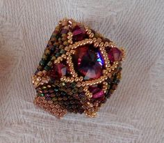 Beautiful Salinas Ring beaded by Sylvia Muhlmann. Thank you for sharing!
