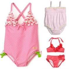 6 Pretty Pink Floral Swimsuits For Lil Girls - www.lilsugar.com