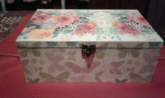Decoupage en caja de madera - Lorena Belart