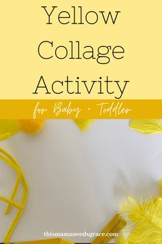 Inspiration for a collage activity to teach the color yellow. All art supplies were mostly found at the Dollar Store! #CollageActivity #ColorYellow #ToddlerActivities