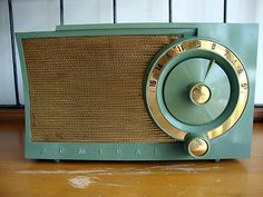 Vintage 1950s Admiral Am Tube Radio Model 5T38N w Green Case Gold Trim Works | eBay