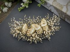 "38 Likes, 1 Comments - Allasille wedding jewellery (@allasille) on Instagram: ""Allasille handmade bridal haircomb❤ #weddingheadpiece #weddingaccessories #wedding #bridalheadpiece…"""