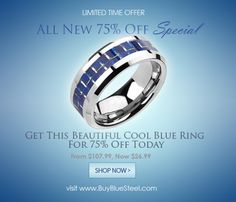 LAST DAY TO GET THIS 75% Off Ring! Get This Ring At 75% Off Here Today #BuyBlueSteel
